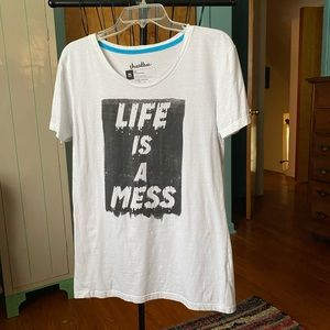 Threadless LIFE IS A MESS Girly Tee XL